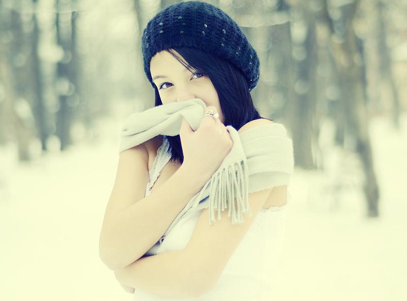 Portret de iarnă 1 - Nikon D7000 + 50 1.8, 1/5000s, f/1.8, ISO 400