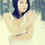 Farmecul unui portret de iarnă 1 - Nikon D7000 + 50 1.8 - 1/5000s, f/1.8, ISO 400