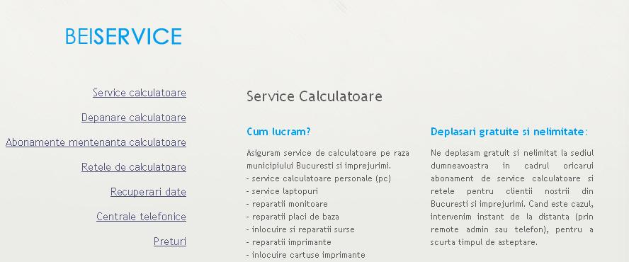 BEI Service - Service şi depanare calculatoare