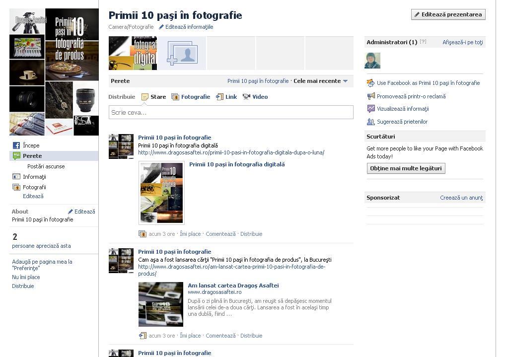 Facebook - Primii 10 paşi în fotografie