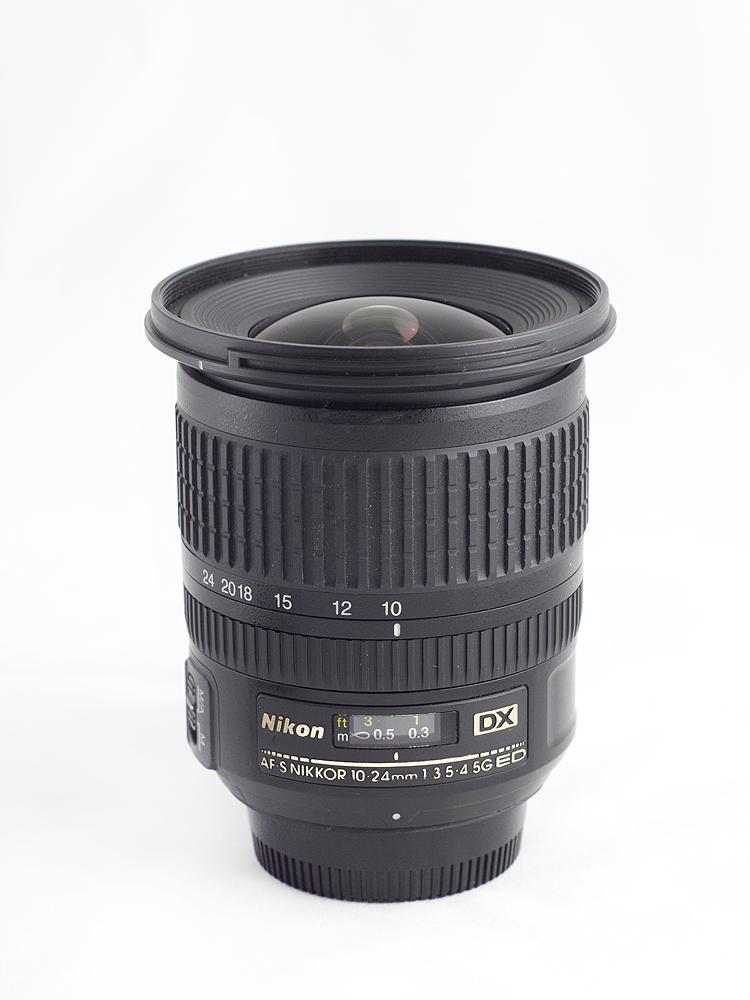 Nikkor AF-S 10-24mm f/3.5-4.5 G ED - Vedere frontală @10mm