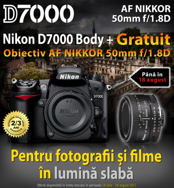 Nikon D7000 Body + AF 50mm 1.8D gratuit