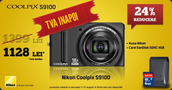 TVA înapoi la Nikon CoolPiX S9100