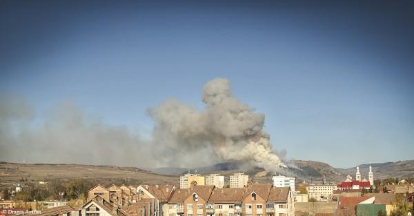 Incendiu de pădure în Odorheiu-Secuiesc