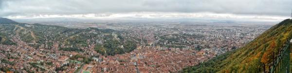 Imagine panoramică de pe Tâmpa