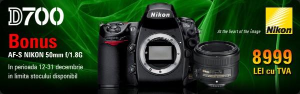 Nikon D700 body + Bonus Nikon 50mm f/1.8 AF-S