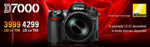 Nikon D7000 cu 3999 lei