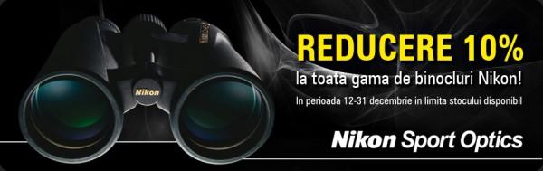 Binocluri Nikon cu 10% reducere
