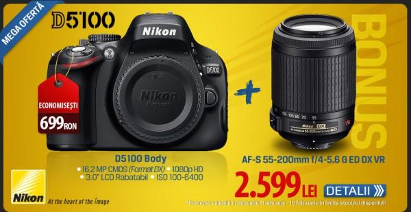 Nikon D5100 Body + 55-200 VR bonus