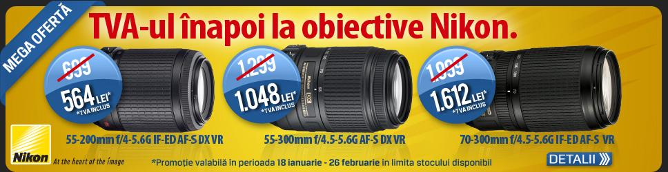 TVA redus la obiectivele Nikon