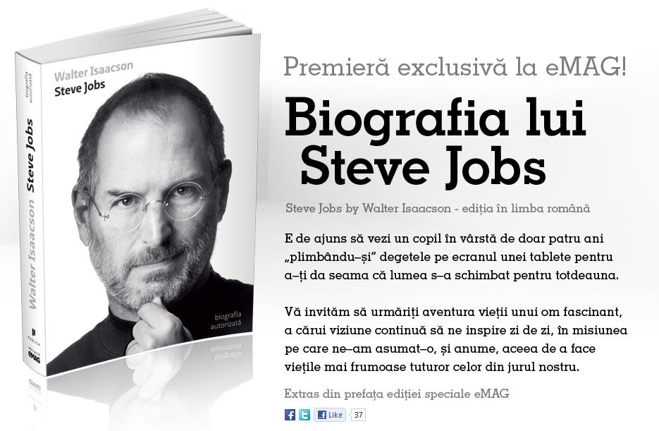 Cadou biografia lui Steve Jobs - eMAG.ro