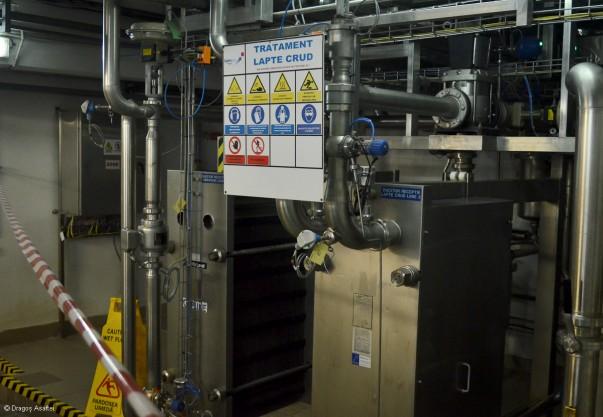 Vizită fabrica Danone - Preluarea laptelui