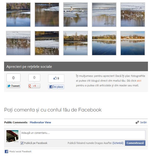 Comentarii și cu contul de Facebook