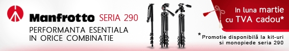 Reducere 24% la produsele din gama Manfrotto 290
