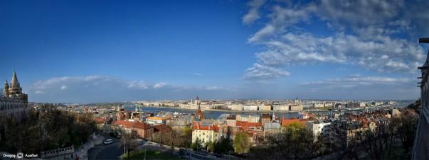 Budapesta - Panoramă de la Castelul Buda