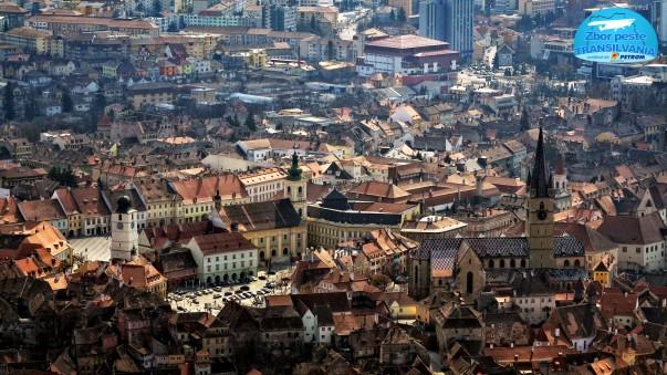 Sibiu - Fotografie din avion