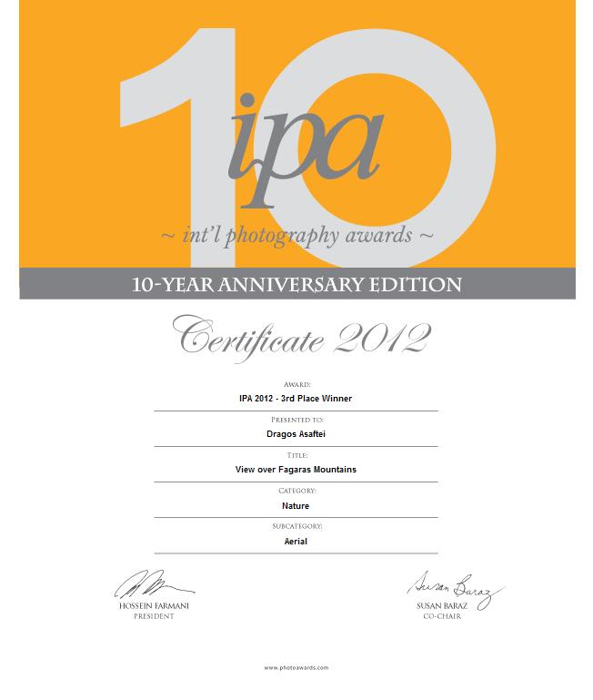 Certificat - Dragoș Asaftei