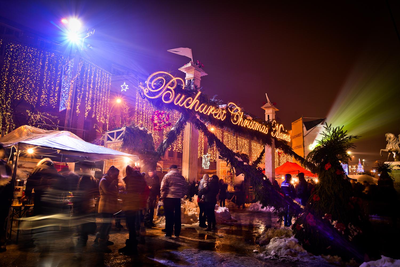 Bucureștiul în lumini de sărbătoare