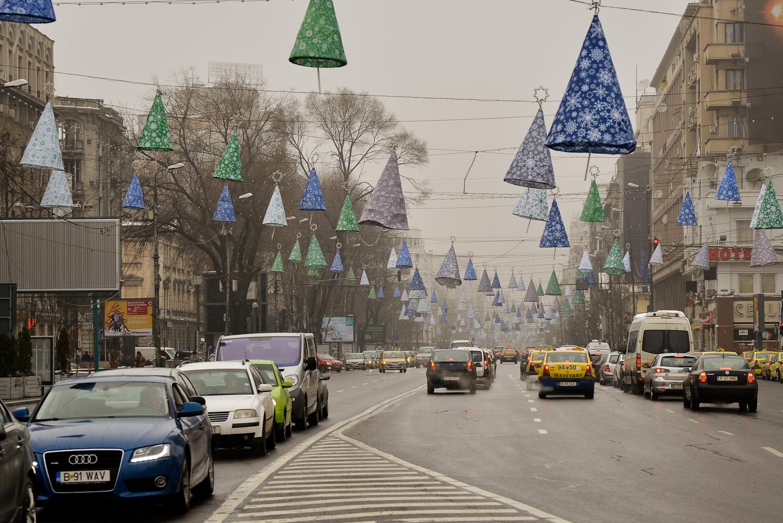 Pe străzile din București