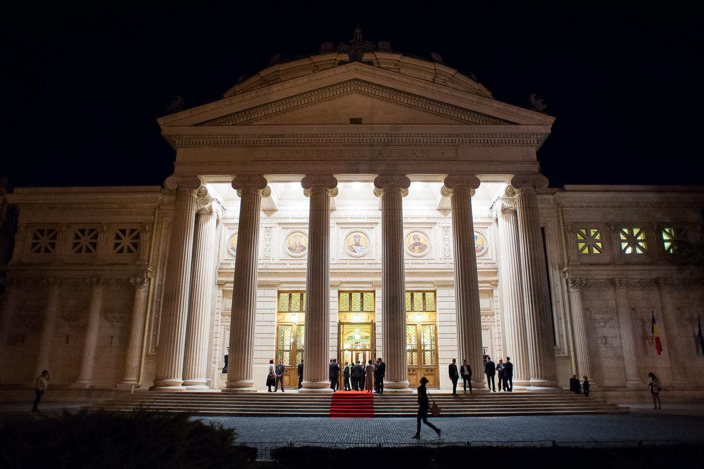Ateneul Român și un București la ceas de seară