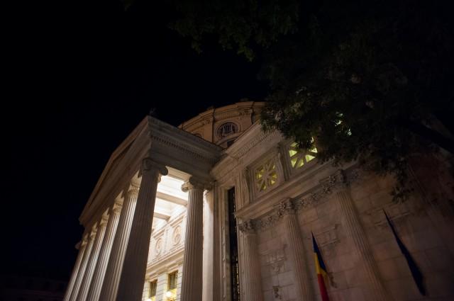 Ateneul Român - Fotografie pe timp de noapte