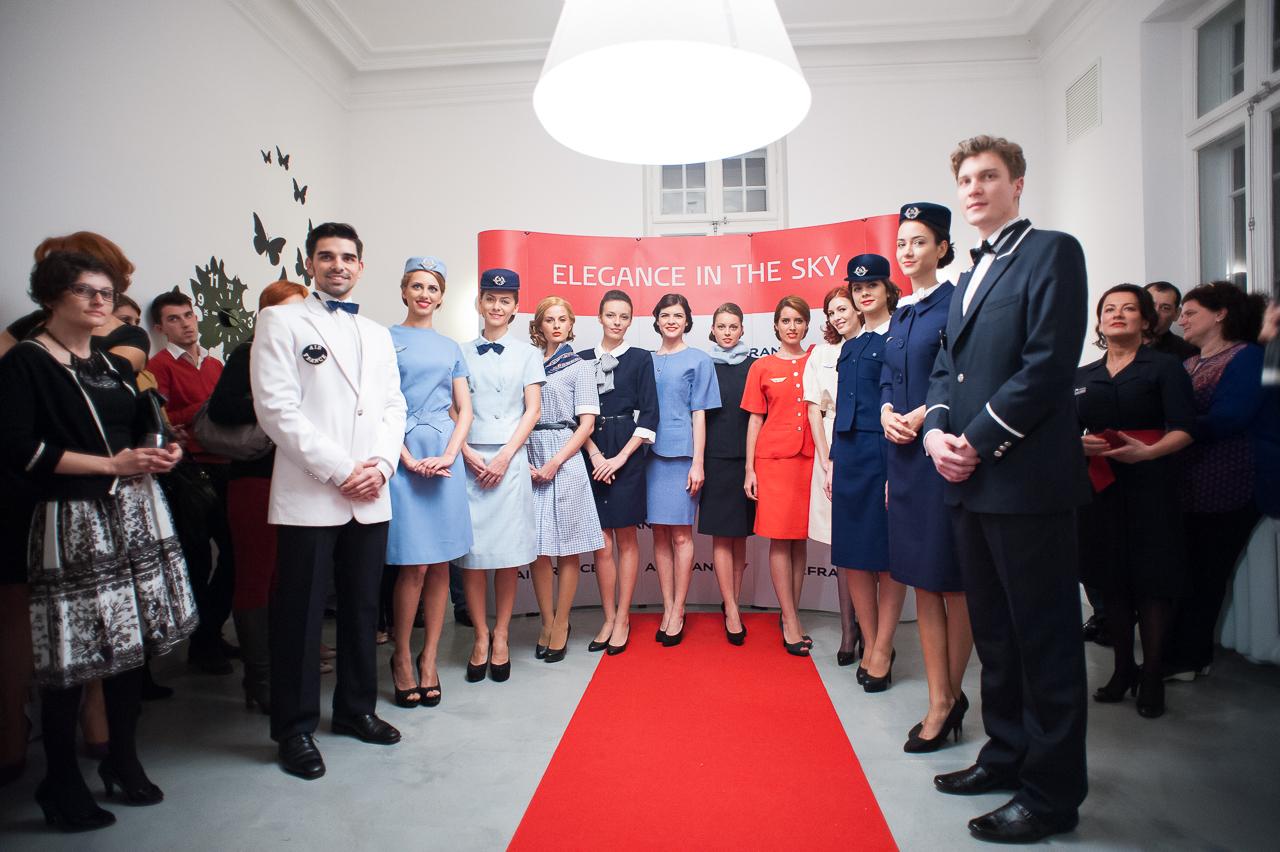 Prezentare de modă - Ținutele stewardeselor Air France