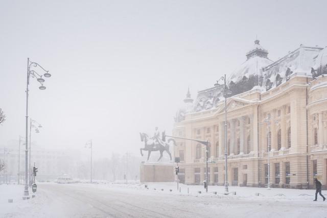 Iarna în București - Primele fotografii 16