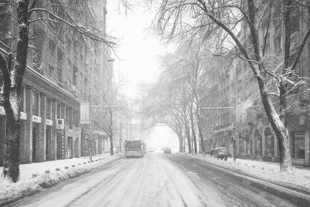 Iarna în București - Primele fotografii 17