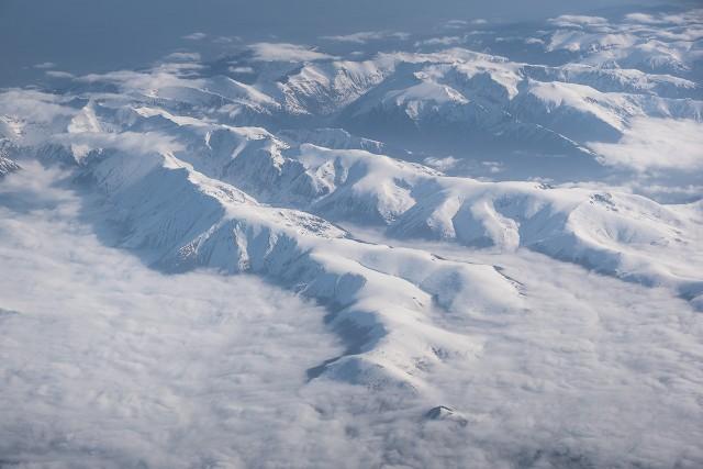 Carpații Meridionali fotografiați din avion la început de primăvară 11
