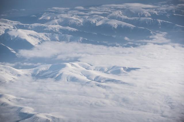 Carpații Meridionali fotografiați din avion la început de primăvară 8