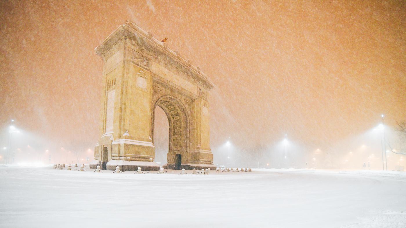 Galerie foto: 11 Ianuarie, al doilea val de ninsoare în București din 2017