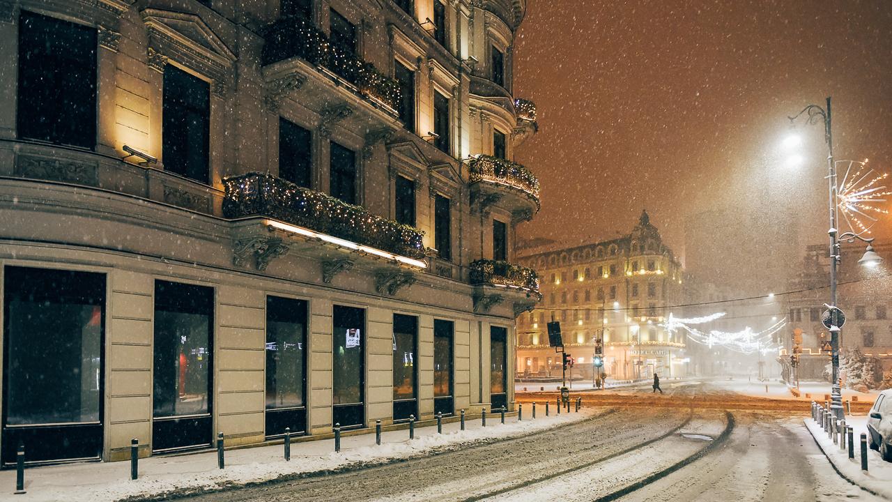 Galerie foto: Prima ninsoare zdravănă din iarna lui 2017 în București